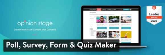 Poll, Survey, Form & Quiz Maker WordPress plugin