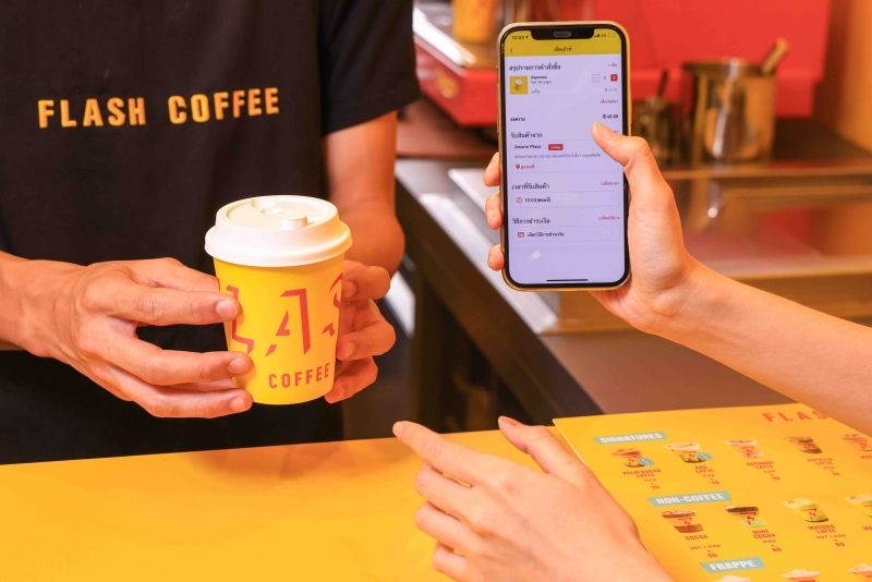 Flash Coffee launches application in Thailand