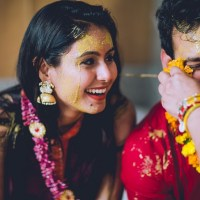 Haldi Ceremony & Couple Shoot Outfits #AnuManshiWedding