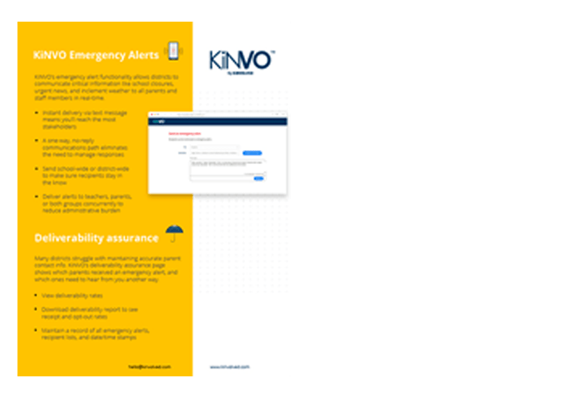 Kinvo emergency alerts