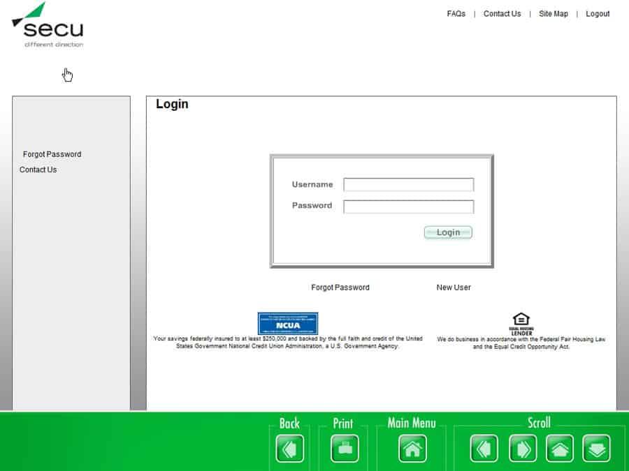 Secu Website Down