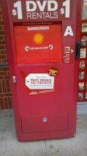 Outdoor kiosk sunshield example Redbox