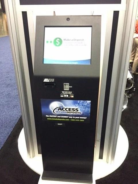 Lobby kiosk with SC Advance by Crane
