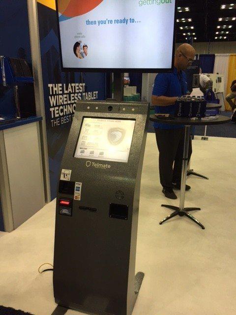 Telmate lobby kiosk with CPI CashCode SM