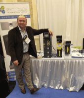 Rick Kobal of Crane with latest cash handling devices.