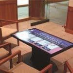 musuem table kiosk