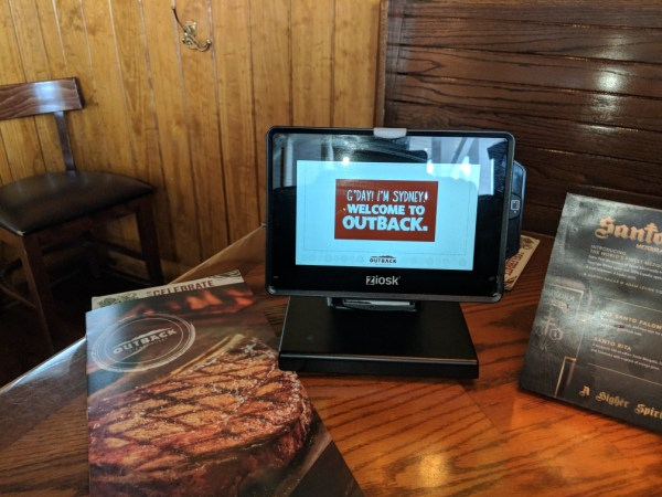 Outback Kiosk On The Table Tablet