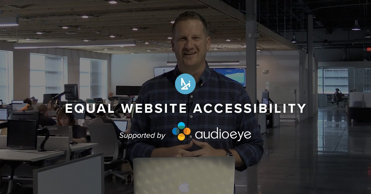 AudioEye – New Sponsor specializing in Accessibility