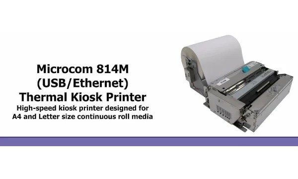 Kiosk Printer – Short Product Video for 8″ wide kiosk printer