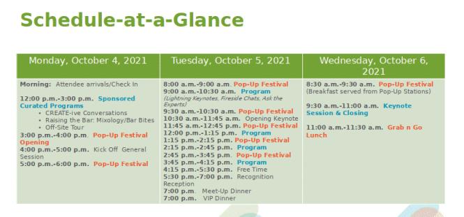 restaurant show schedule kiosks