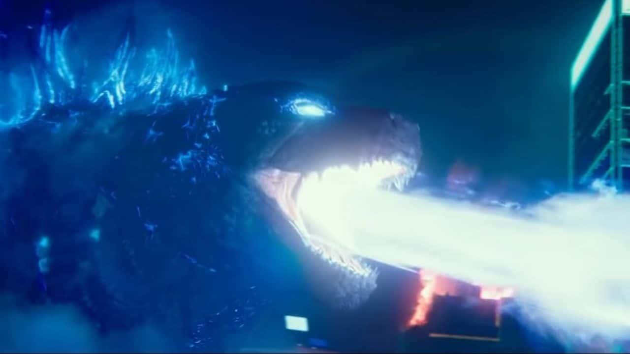 Godzilla lanzando su aliento atómico