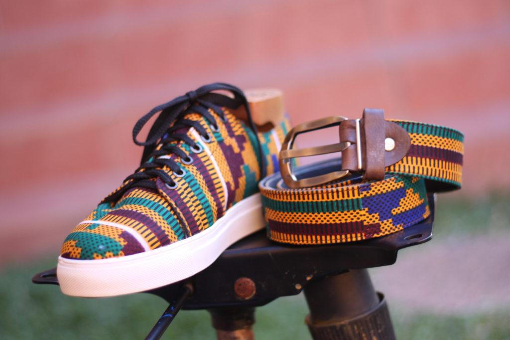 African kente print sneaker
