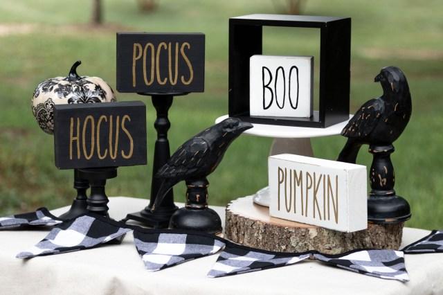 Halloween Block Signs