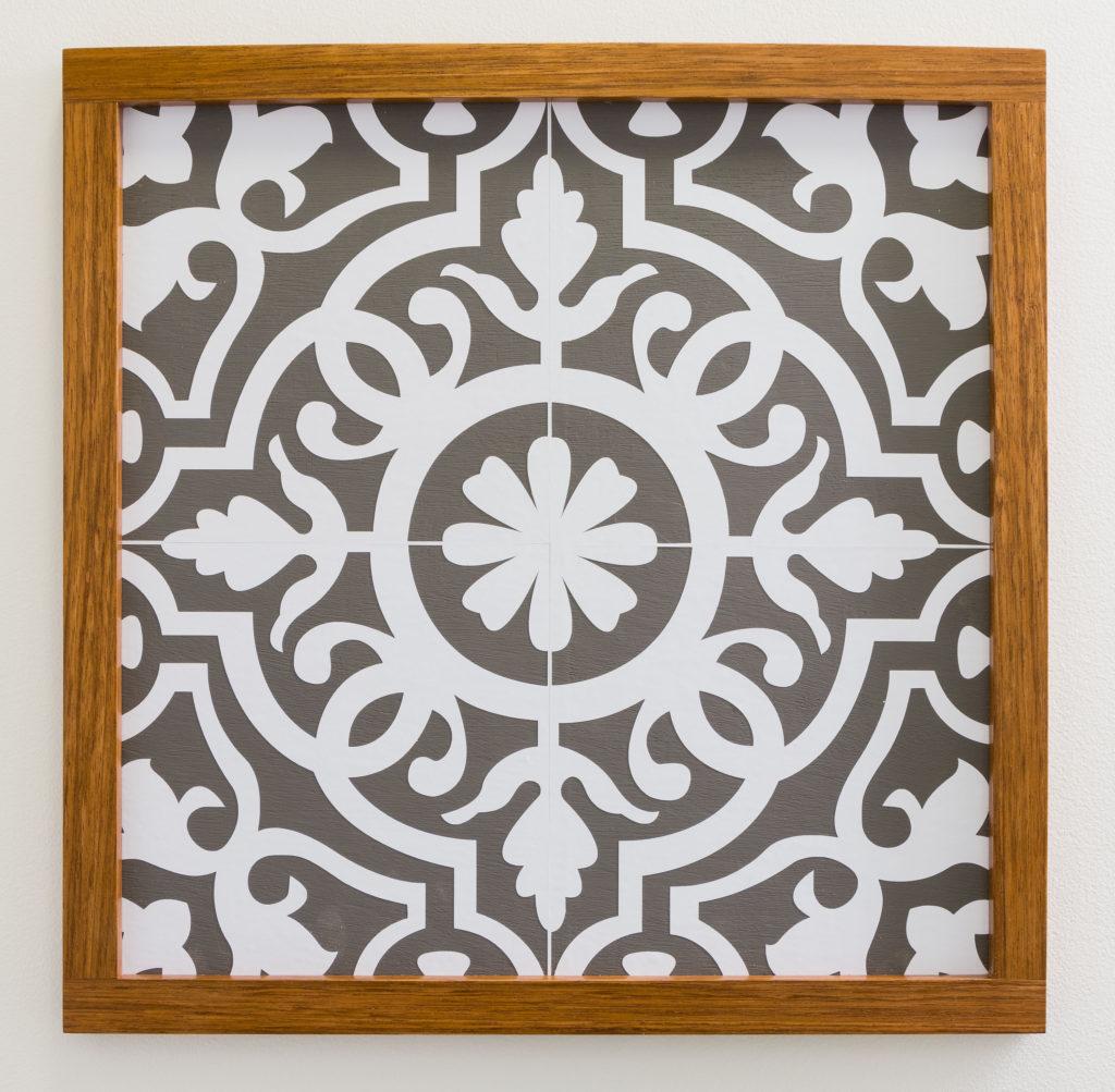 modern moroccan pattern tile stencil
