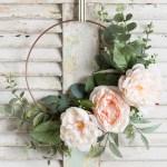 How To Make A Hoop Wreath Peonies Eucalyptus Step By Step