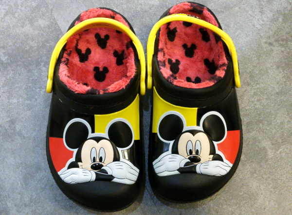 creative clog Mickey lined clog kids black-1