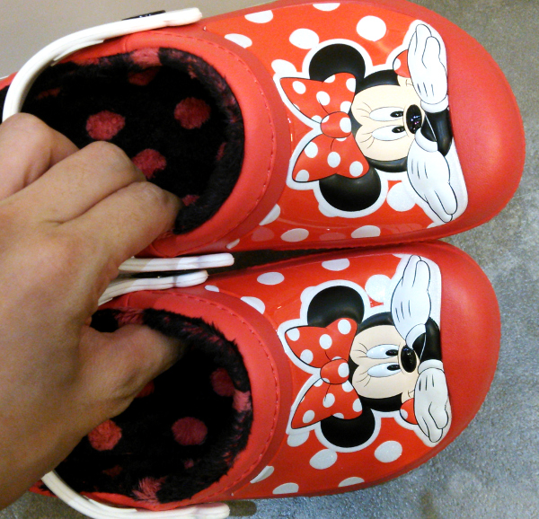 creative clog Mickey lined clog kids pepper