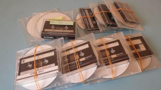 カセットテープとCD-R