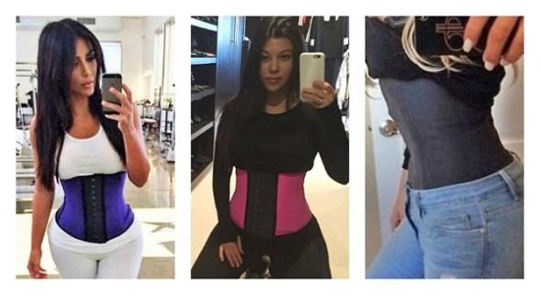 kim-kourtney-khloe-waist-training