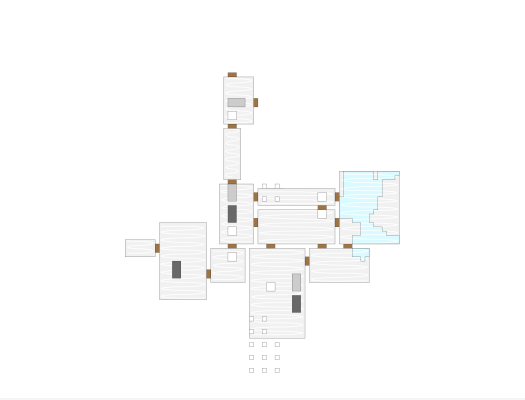 Level 4 is the biggest level yet, with 11 chambers. The westernmost ones go under the lake.