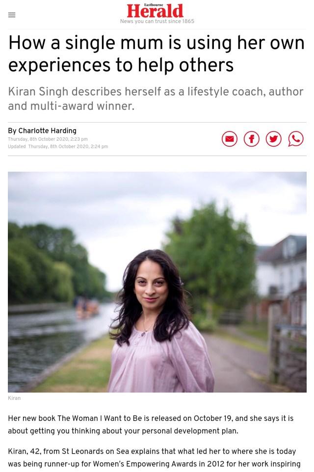 Kiran Singh - Eastbourne Herald