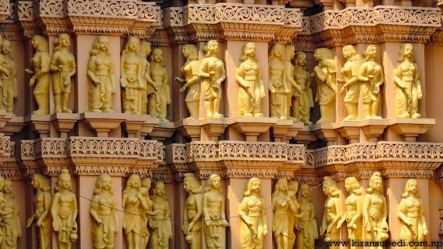 Here is wooden architecture of Shashwat Dham