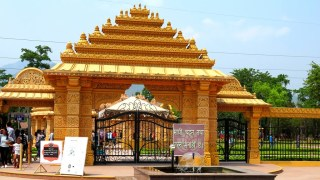 Entrance Gate of CG Temple, Shashwat Dham Metal gate