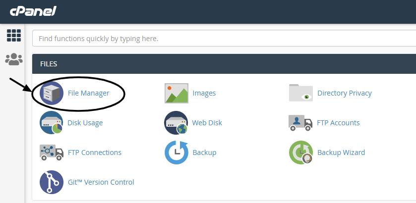 Cpanel admin dashboard