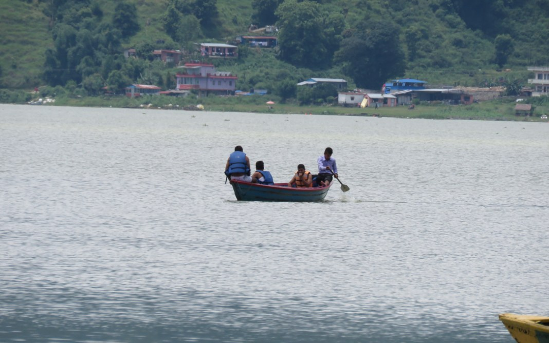 Boating in Fewa Lake of Pokhara one of the best tourist destination