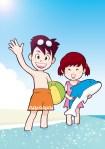 赤ちゃんと海水浴 何歳から行く?持ち物と注意したこと我が家の体験談。