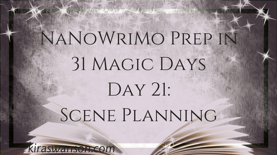 Day 21: 31 Magic Days of NaNoWriMo Prep