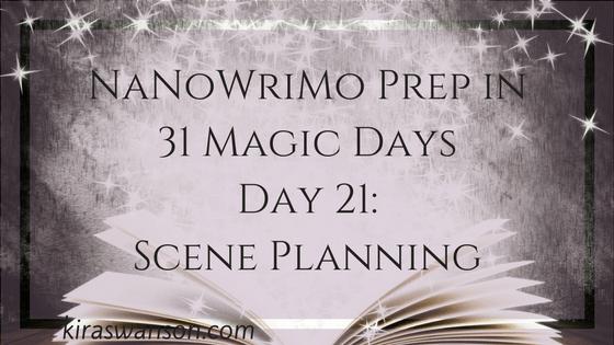 Day 21: 31 Magic Days of NaNoWriMo Prep