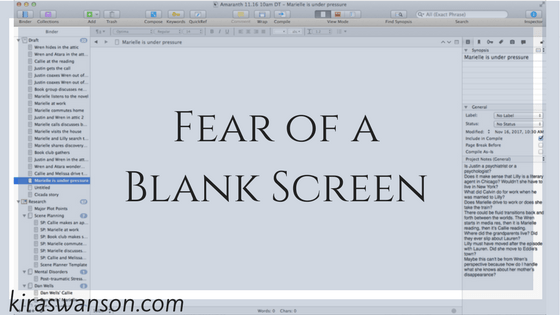 Fear of a Blank Screen