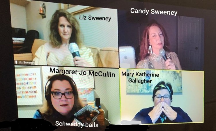 SNL characters the Sweeney Sisters, Margaret Jo McCullin and Mary Katherine Gallagher