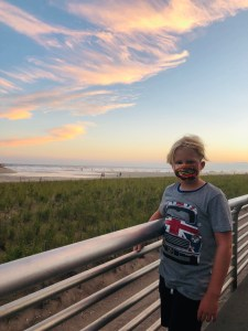The #NEWINTERN, a 5th grader at the boardwalk near the beach where he swims with sharks and tries to get out of doing the dishes DURING SHARK WEEK