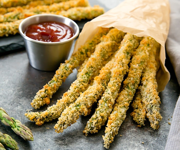 Parmesan Baked Asparagus Fries