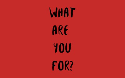What Are You For?