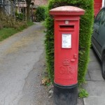 Pillar box in front of the post office