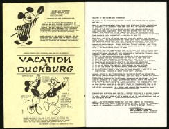 1971 - Disneyland Convention booklet inside front cover & page 1