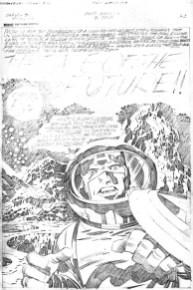 1976 - Captain America Bicentennial Battles page 63 pencil art photocopy