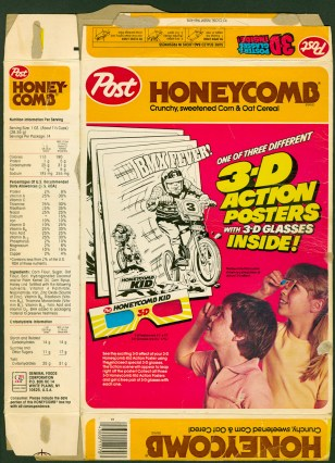 1984 - Honeycomb Cereal Box back