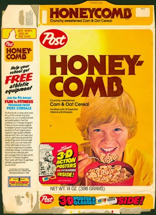 1984 - Honeycomb Cereal Box front