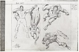 1973 - Comic Reader 100 back and front unused cover pencil art