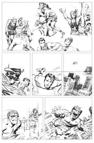 1962 - Hulk 6 unused page 12 pencil art