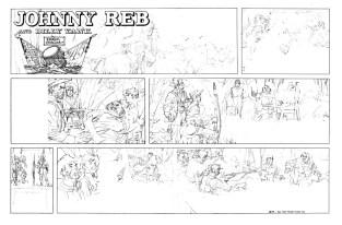Unused Johnny Reb pencil art