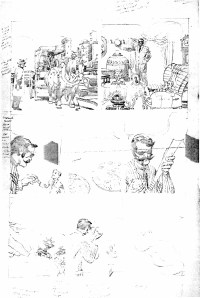 1962 - Newly discovered Hulk 6 unused page 9 pencil art