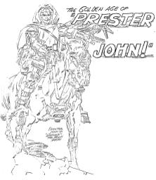 The Golden Age Of Prester John pencil art photocopy