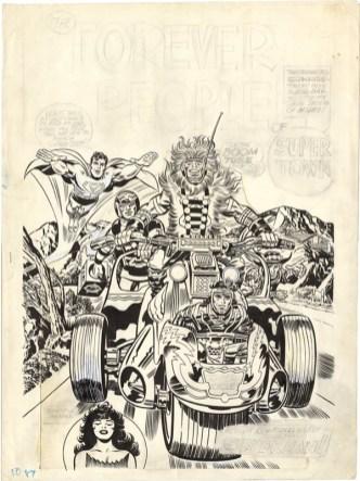 1972 - Forever People 1 cover original art