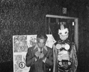 1972 New York Comic Art Convention - Jack Kirby and Mr. Miracle cosplayer