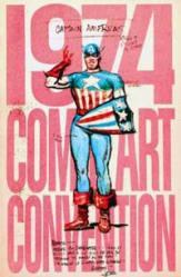 1974 Comic Art Convention book - Joe Simon 1941 Captain America pitch sketch